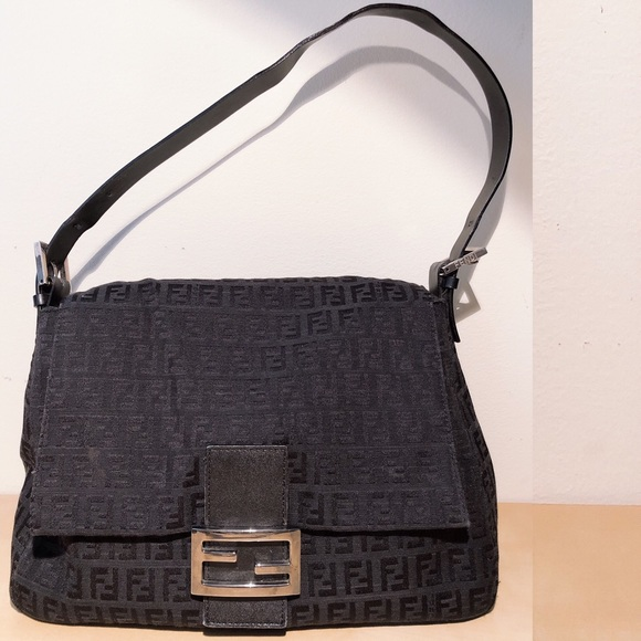 7aec86fc5e Fendi Handbags - FENDI Vintage Black Zucchino Baguette Bag